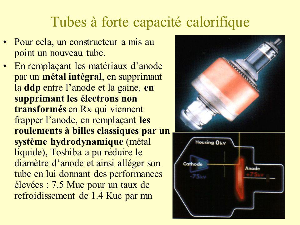 Tubes à forte capacité calorifique