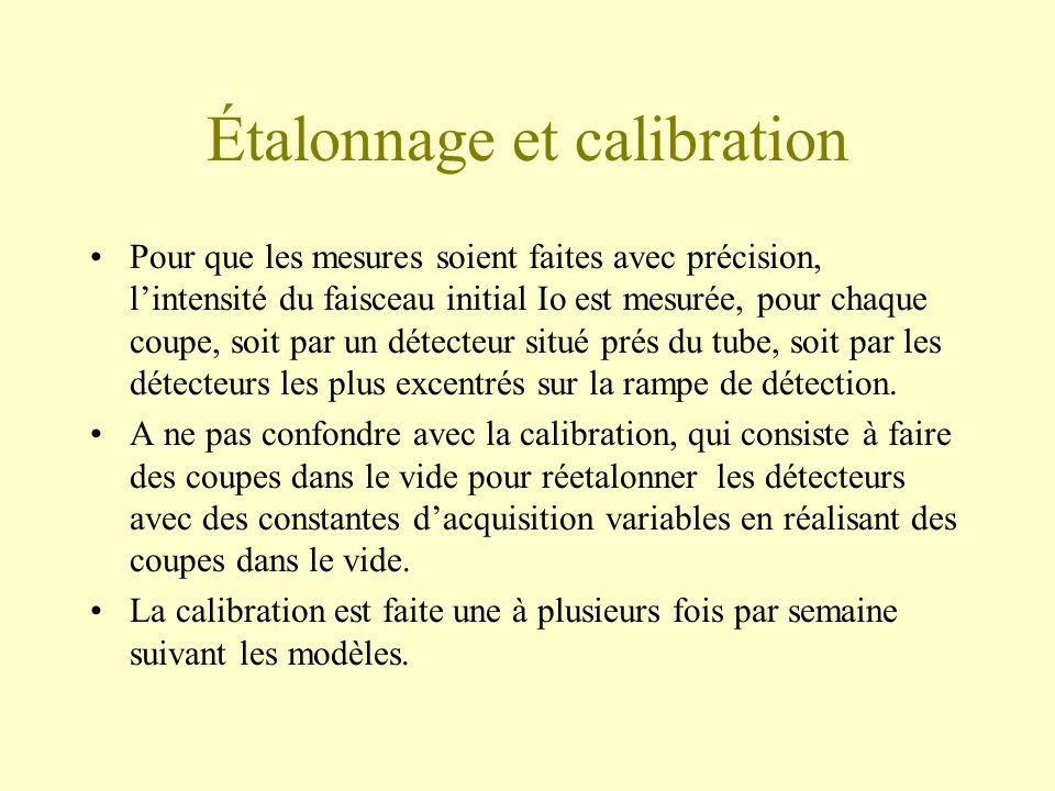 Étalonnage et calibration