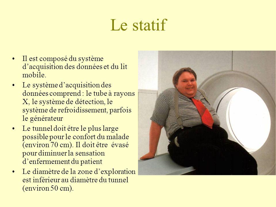 Le statif Il est composé du système d'acquisition des données et du lit mobile.