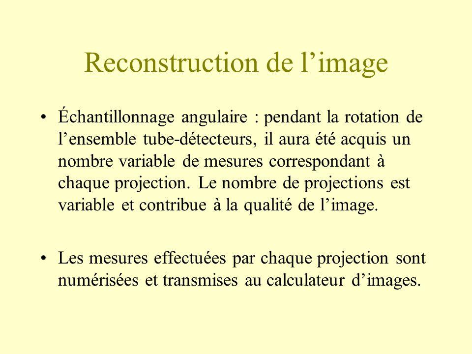 Reconstruction de l'image