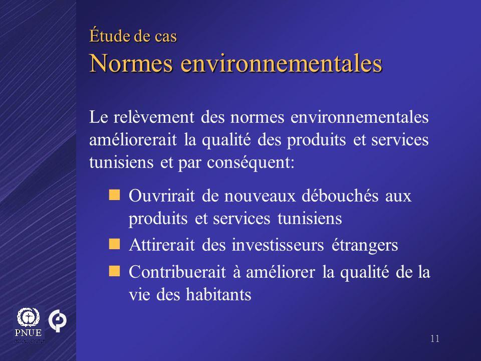 Étude de cas Normes environnementales