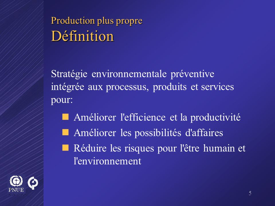 Production plus propre Définition