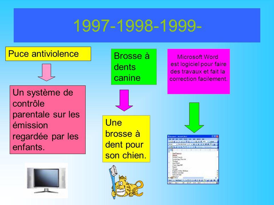 1997-1998-1999- Puce antiviolence Brosse à dents canine