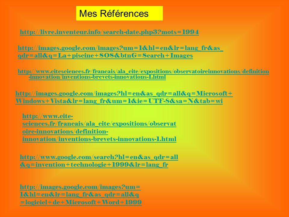 Mes Références http://livre.inventeur.info/search-date.php3 mots=1994