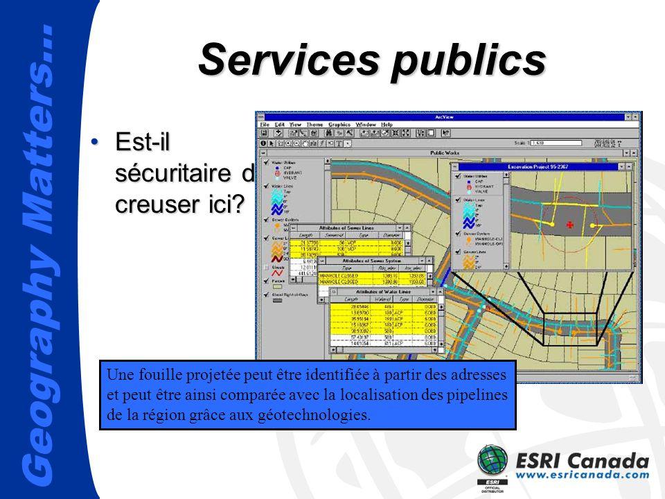 Services publics Est-il sécuritaire de creuser ici