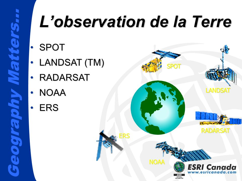 L'observation de la Terre