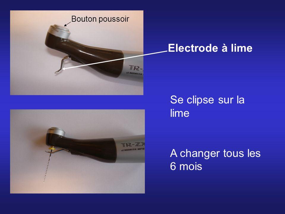 Electrode à lime Se clipse sur la lime A changer tous les 6 mois