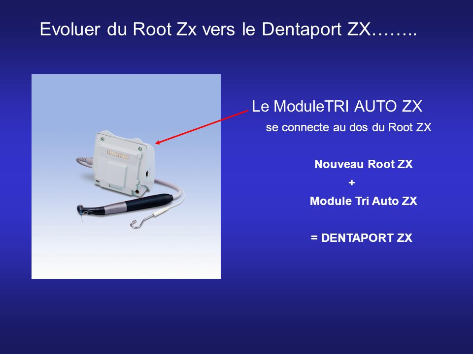 se connecte au dos du Root ZX