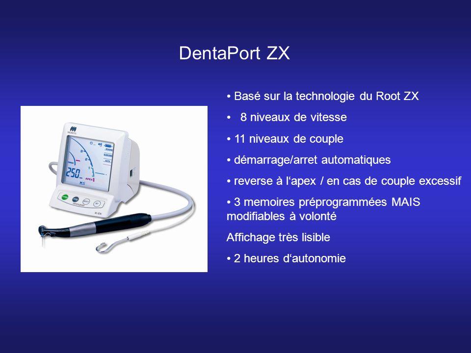 DentaPort ZX Basé sur la technologie du Root ZX 8 niveaux de vitesse