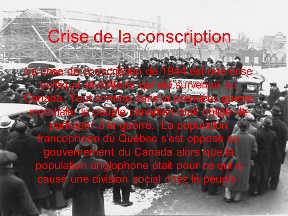 Crise de la conscription