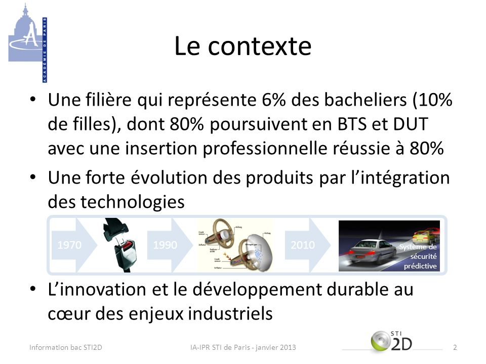 IA-IPR STI de Paris - janvier 2013