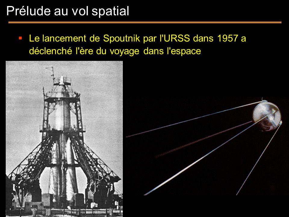 Prélude au vol spatialLe lancement de Spoutnik par l URSS dans 1957 a déclenché l ère du voyage dans l espace.