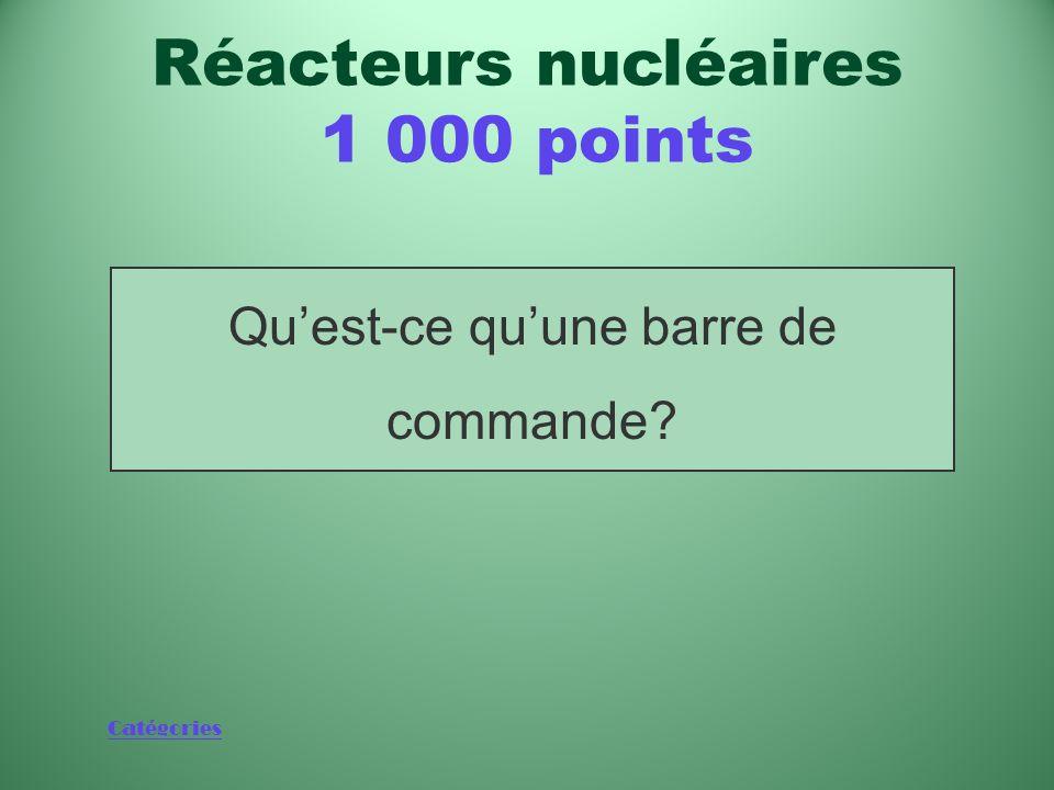 Réacteurs nucléaires 1 000 points