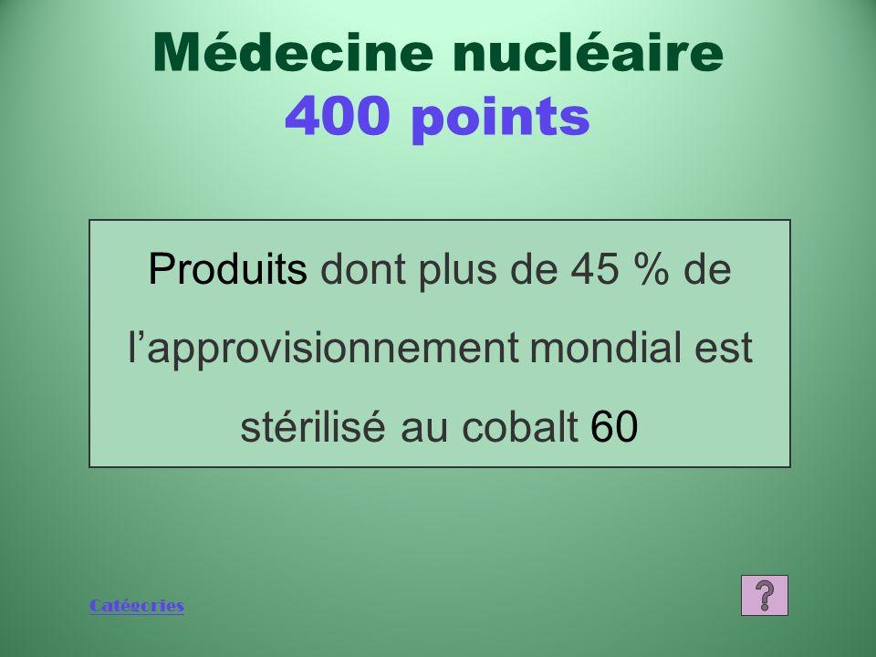 Médecine nucléaire 400 points