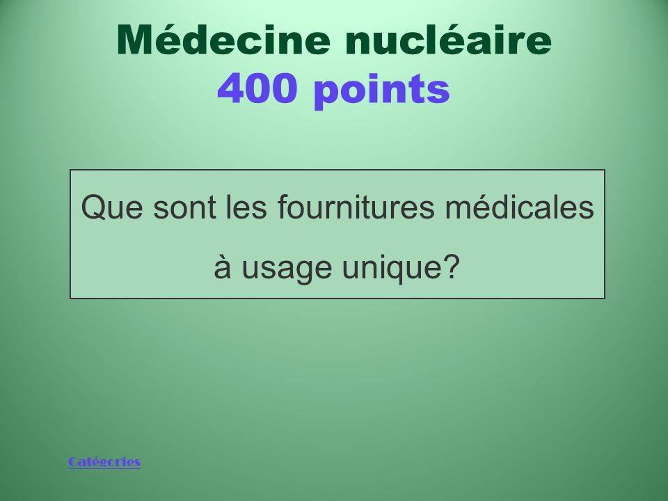 Que sont les fournitures médicales à usage unique