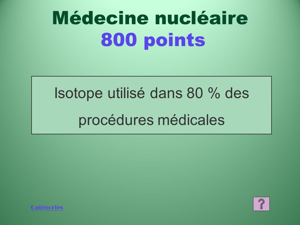 Médecine nucléaire 800 points
