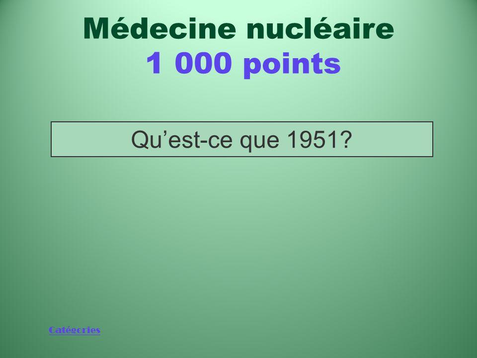 Médecine nucléaire 1 000 points