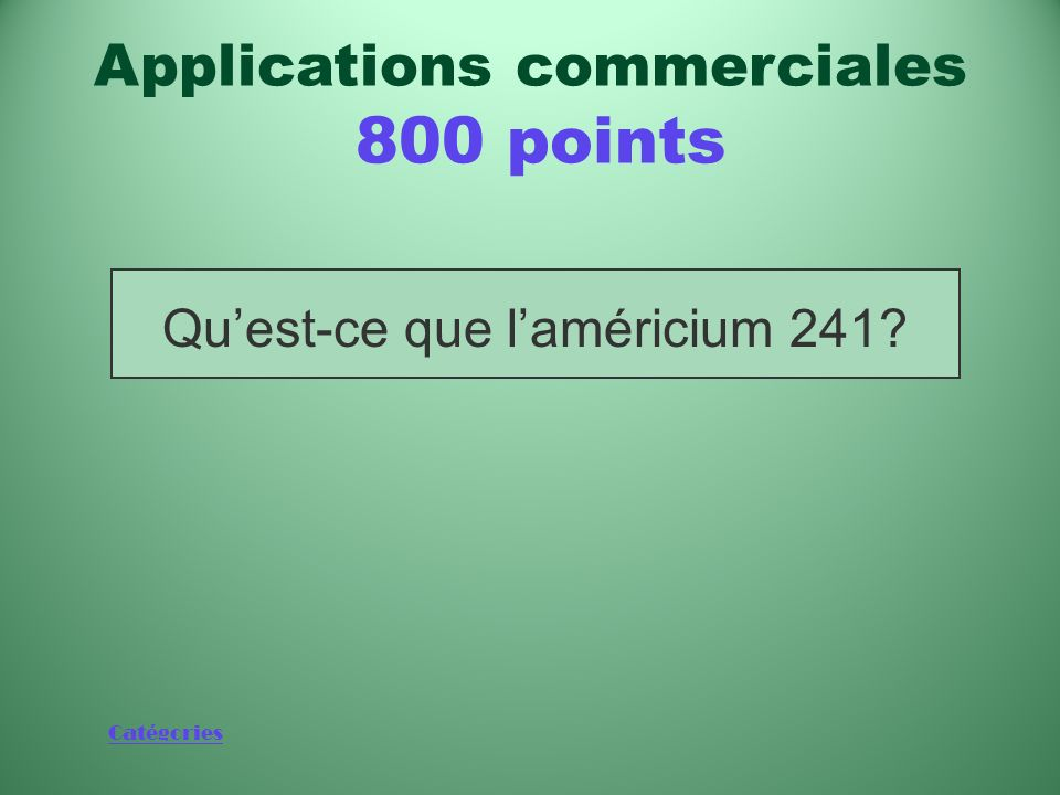 Applications commerciales 800 points