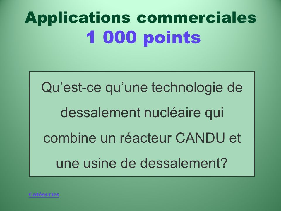 Applications commerciales 1 000 points