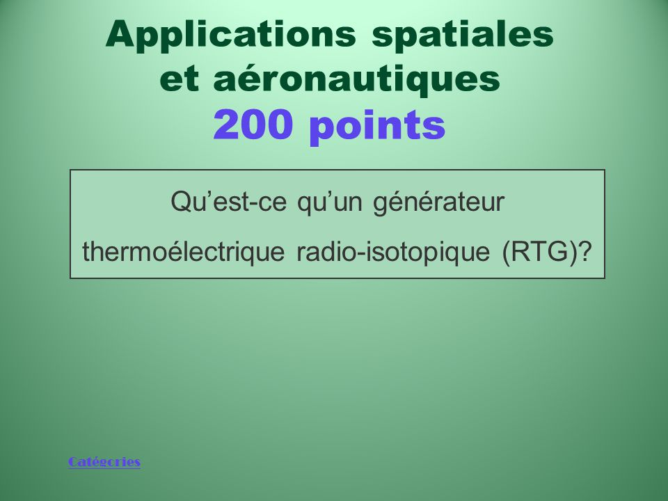 Applications spatiales et aéronautiques 200 points