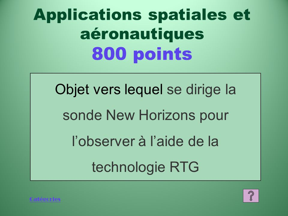 Applications spatiales et aéronautiques 800 points