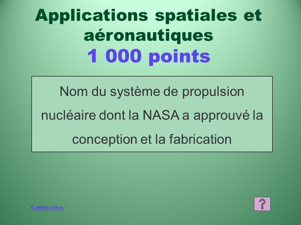 Applications spatiales et aéronautiques