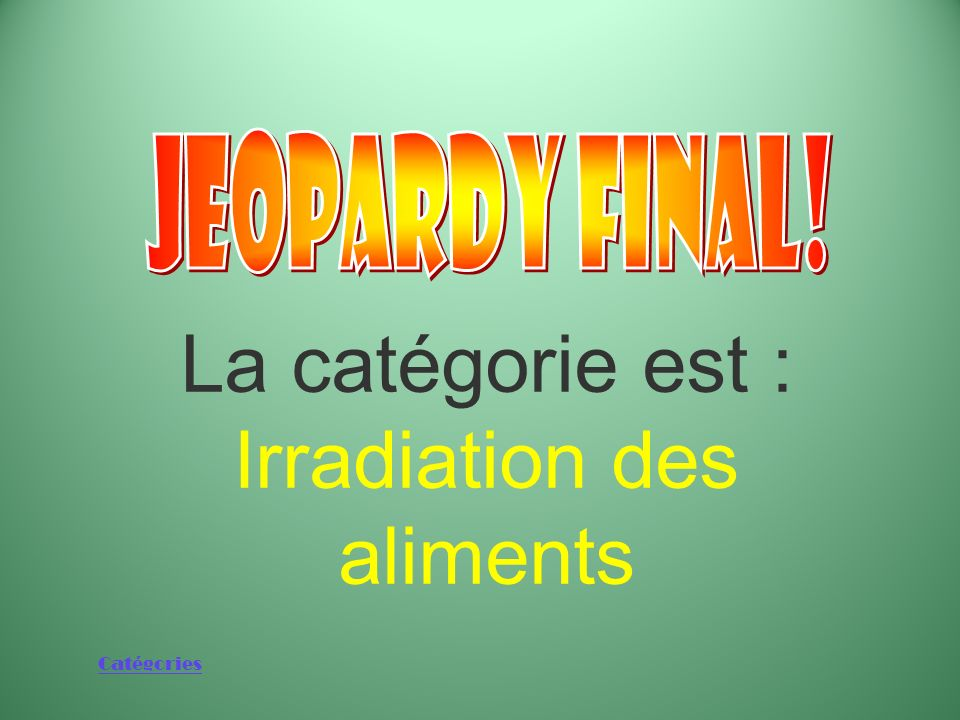 Irradiation des aliments