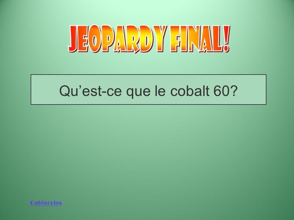 Qu'est-ce que le cobalt 60