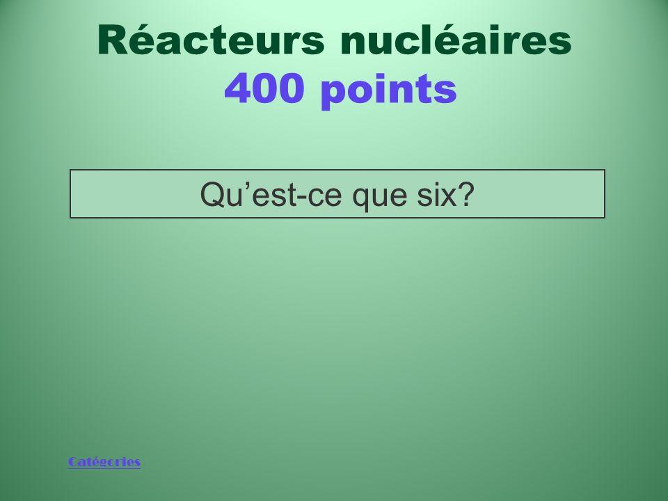 Réacteurs nucléaires 400 points