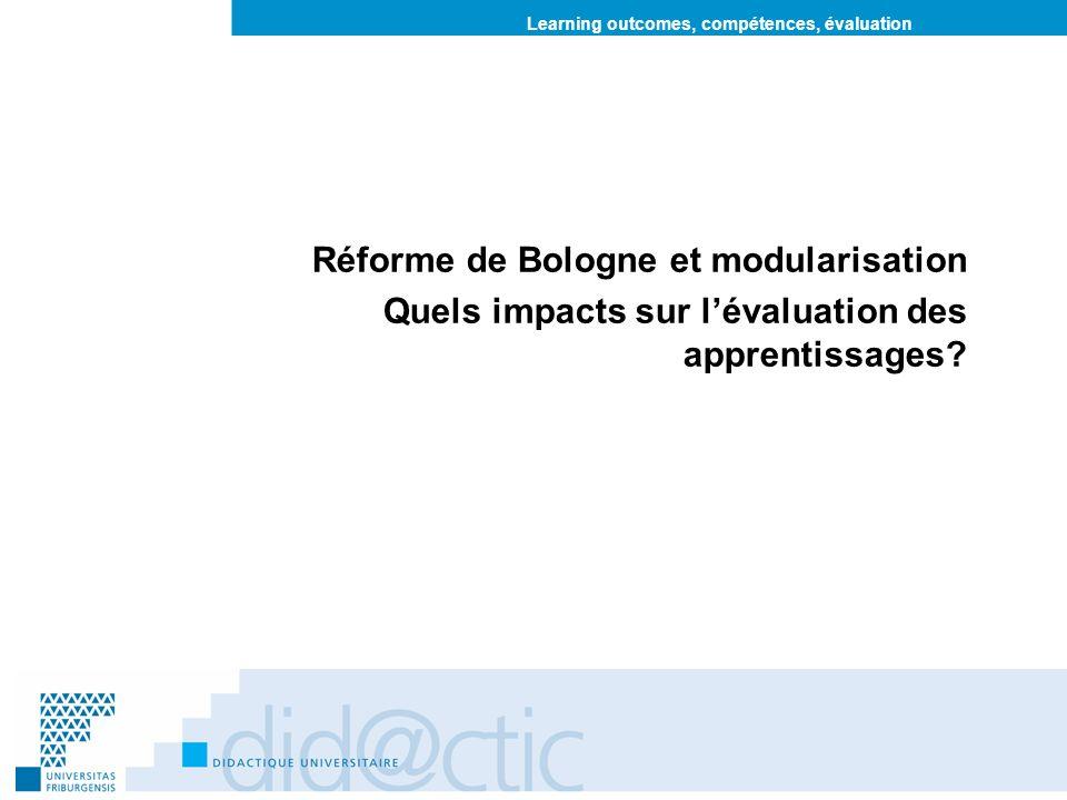 Réforme de Bologne et modularisation