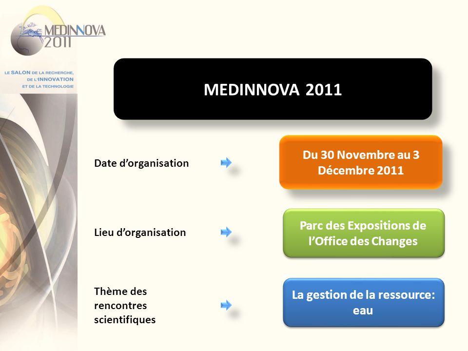 MEDINNOVA 2011 Du 30 Novembre au 3 Décembre 2011