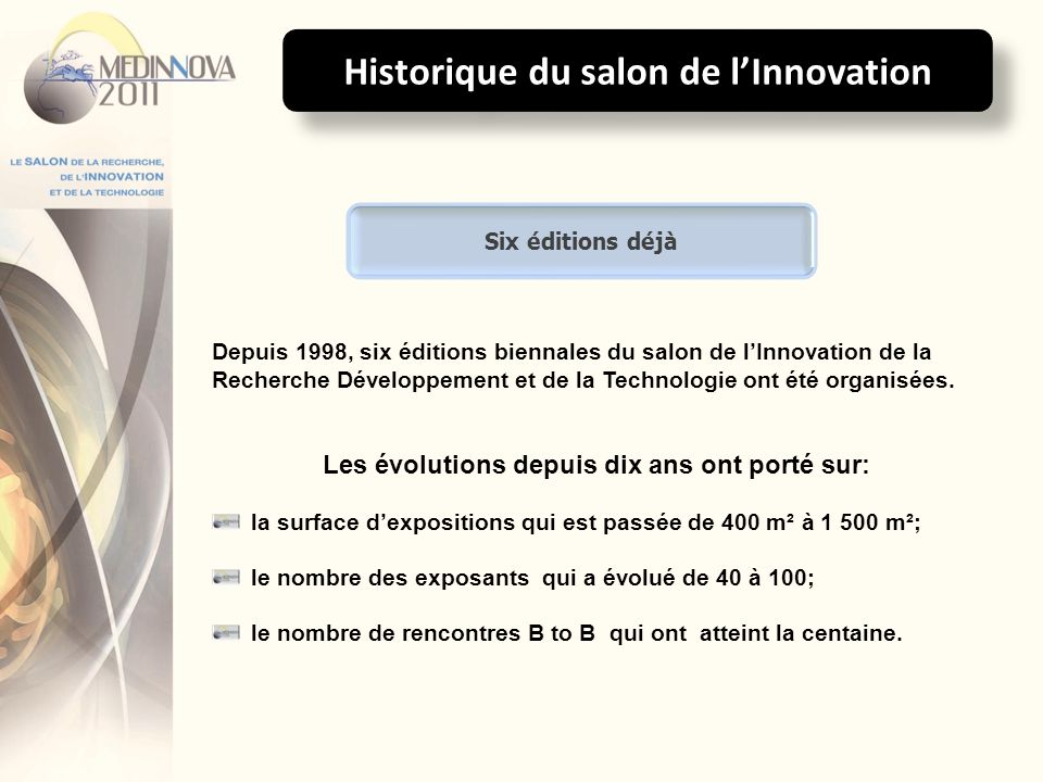 Historique du salon de l'Innovation