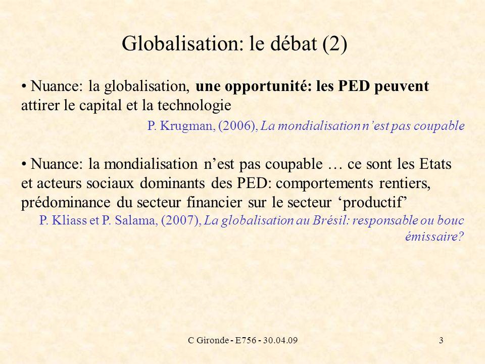 Globalisation: le débat (2)