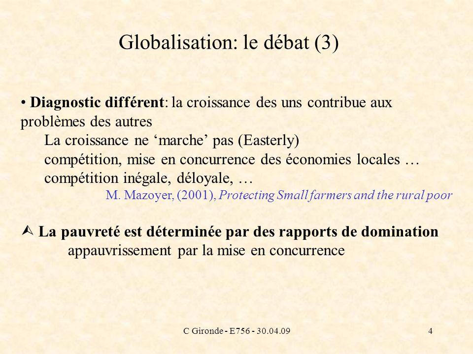 Globalisation: le débat (3)