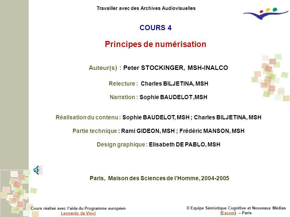 Principes de numérisation
