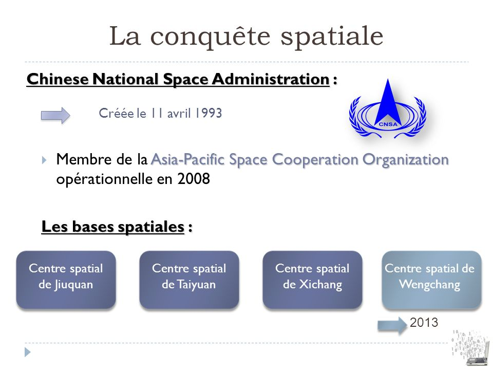 La conquête spatiale Chinese National Space Administration :