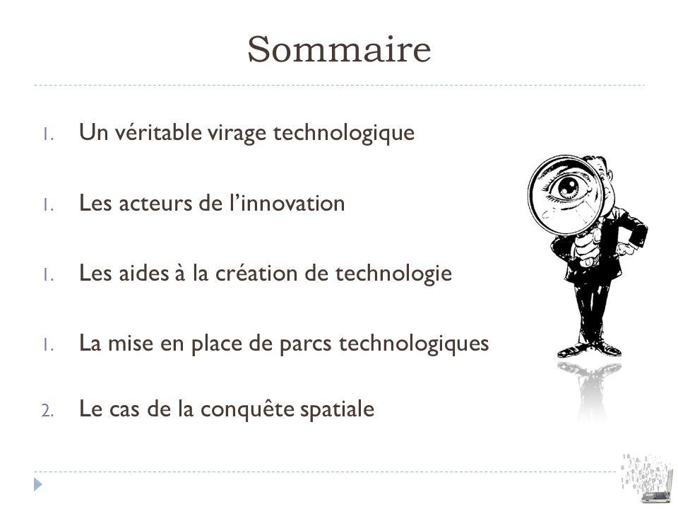 Sommaire Un véritable virage technologique Les acteurs de l'innovation