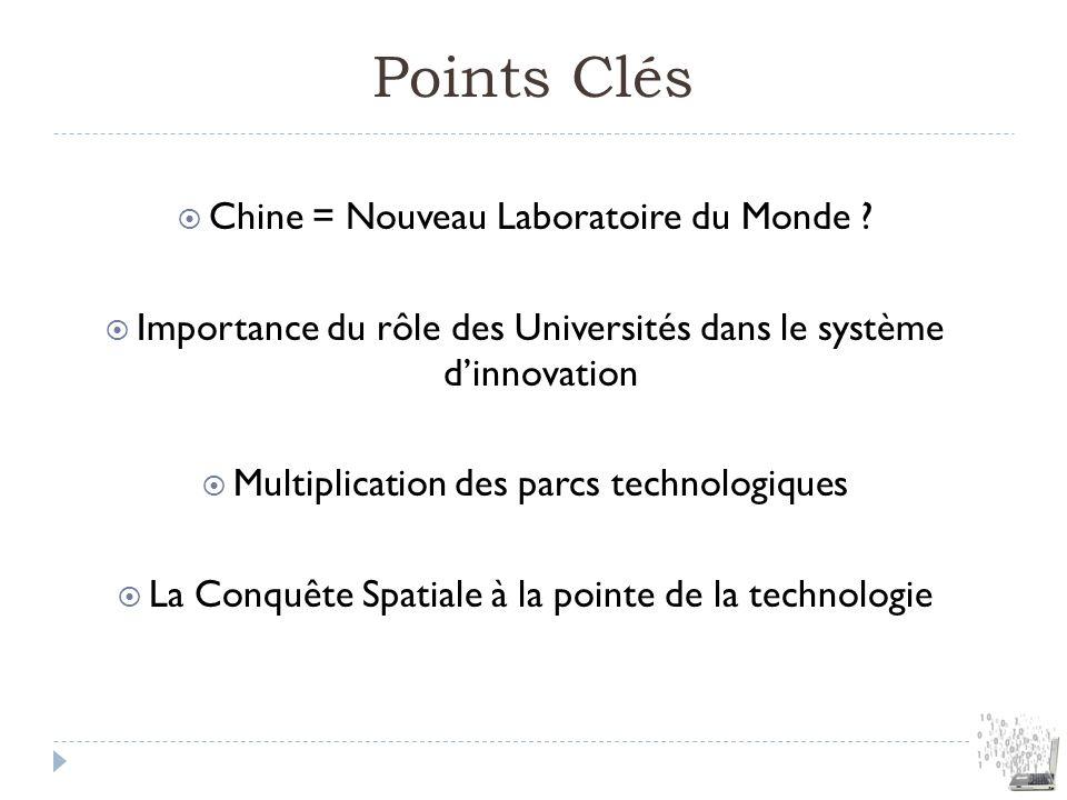Points Clés Chine = Nouveau Laboratoire du Monde
