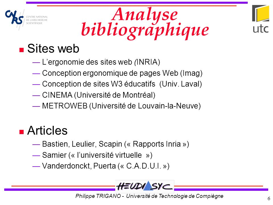 Analyse bibliographique