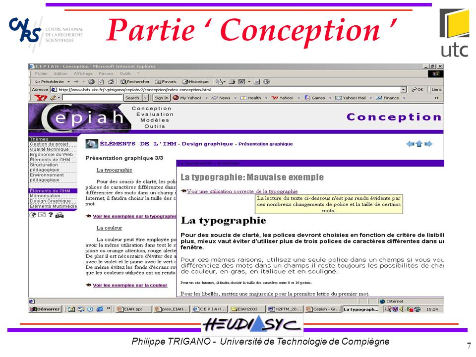 Partie ' Conception '