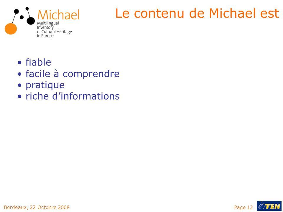 Le contenu de Michael est