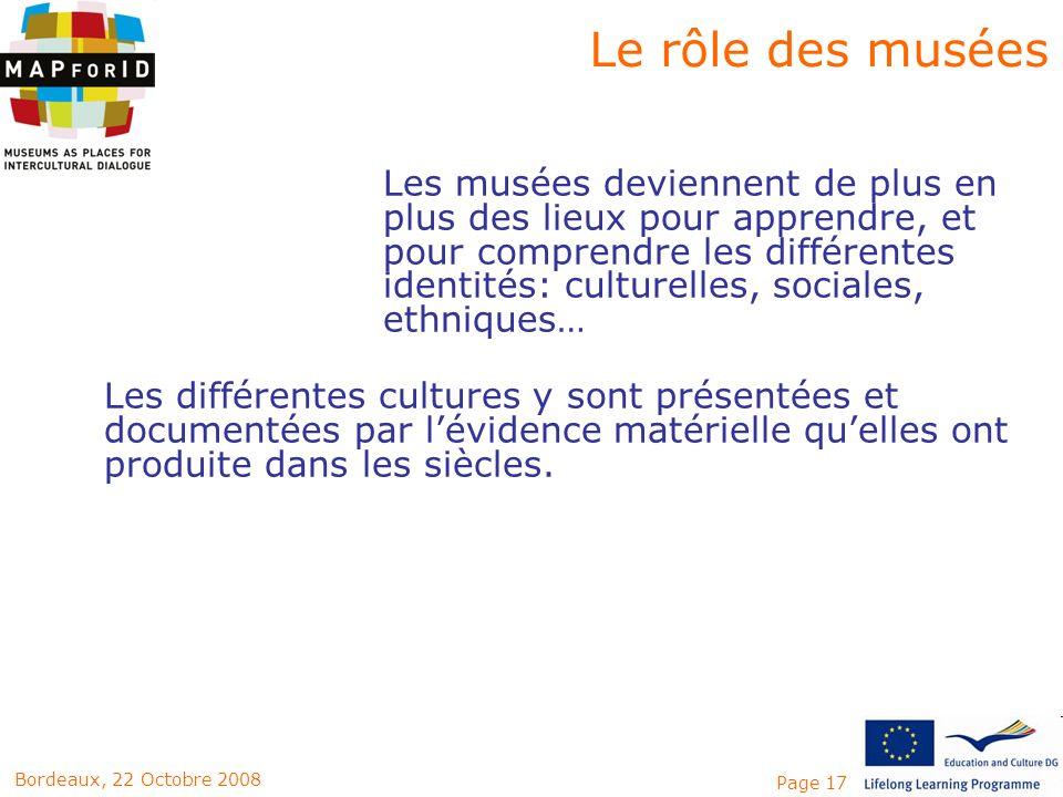 Le rôle des musées