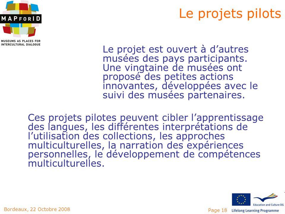 Le projets pilots