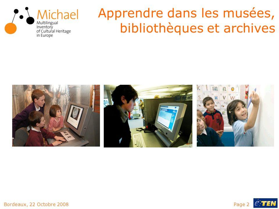 Apprendre dans les musées, bibliothèques et archives