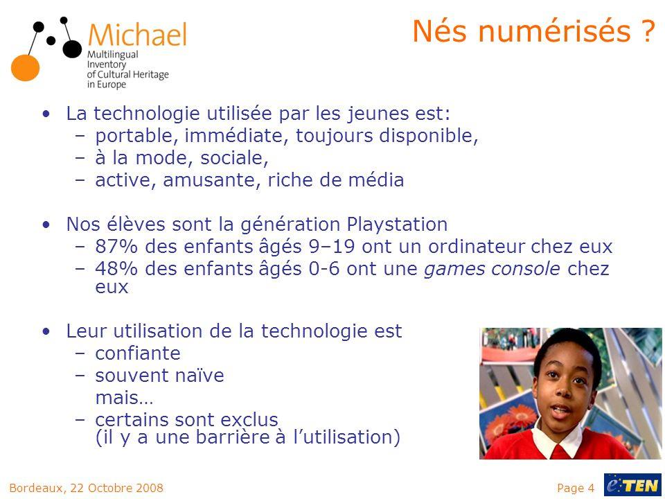 Nés numérisés La technologie utilisée par les jeunes est: