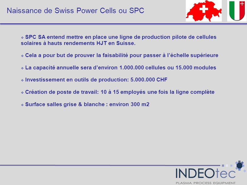 Naissance de Swiss Power Cells ou SPC