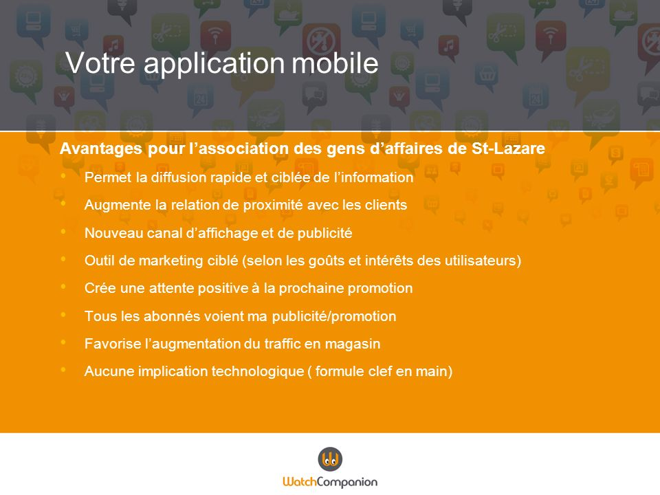 Votre application mobile
