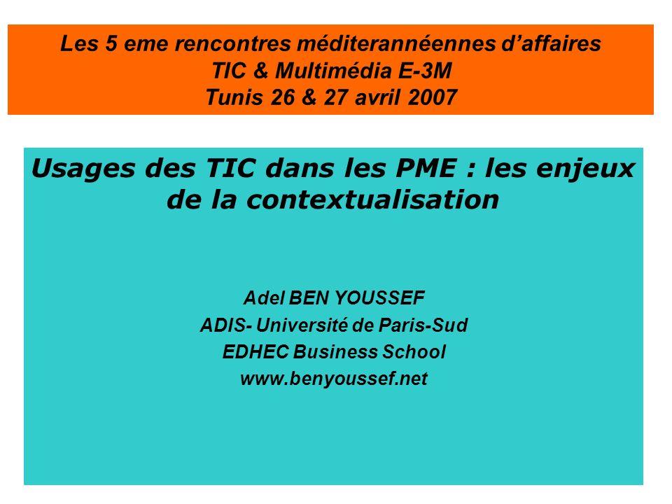 Les 5 eme rencontres méditerannéennes d'affaires TIC & Multimédia E-3M Tunis 26 & 27 avril 2007