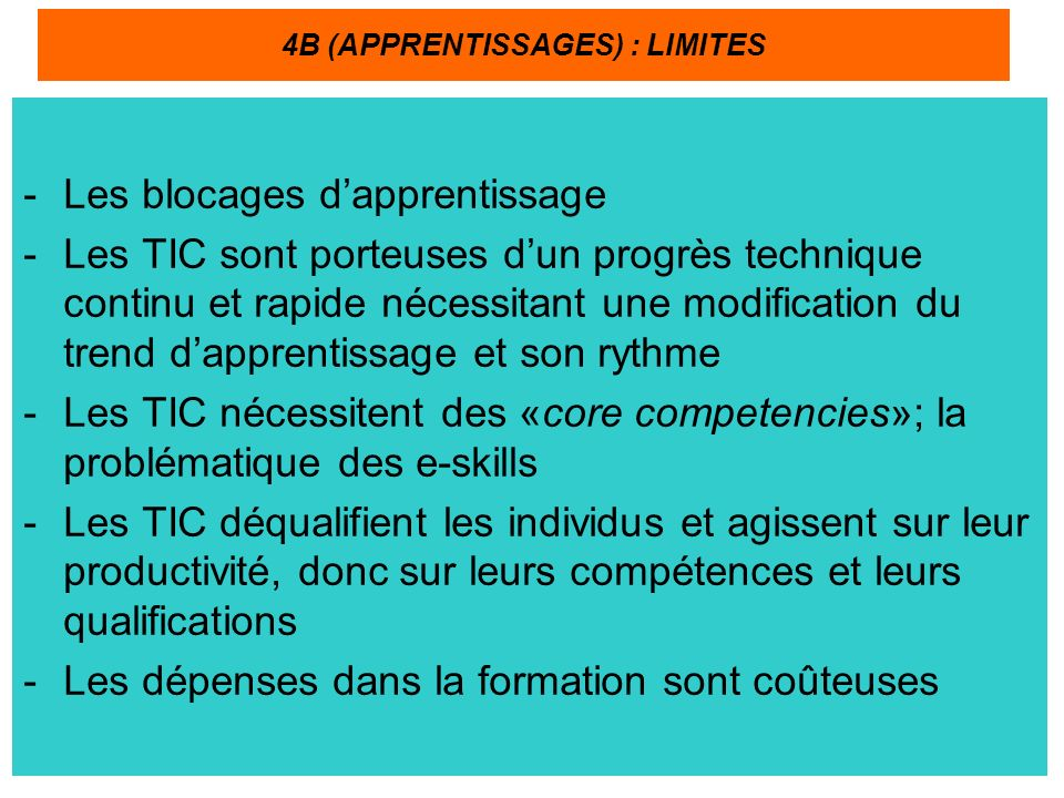 4B (APPRENTISSAGES) : LIMITES