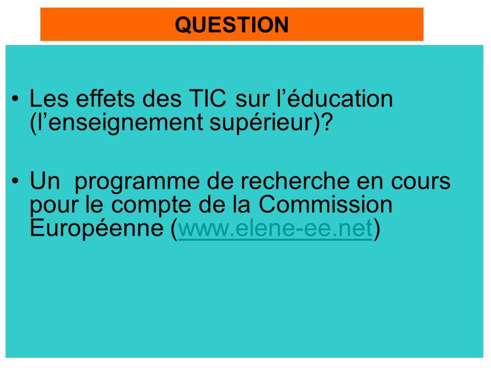 Les effets des TIC sur l'éducation (l'enseignement supérieur)